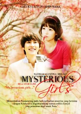 mysterious girls cover poster fanfic shin nana cho kyuhyun super junior pria arogan dan gadis tersembunyi soft drama romane by nazimah agustina