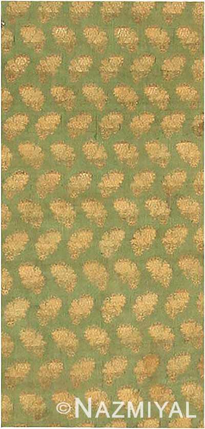 small green antique ottoman embroidery textile 40548