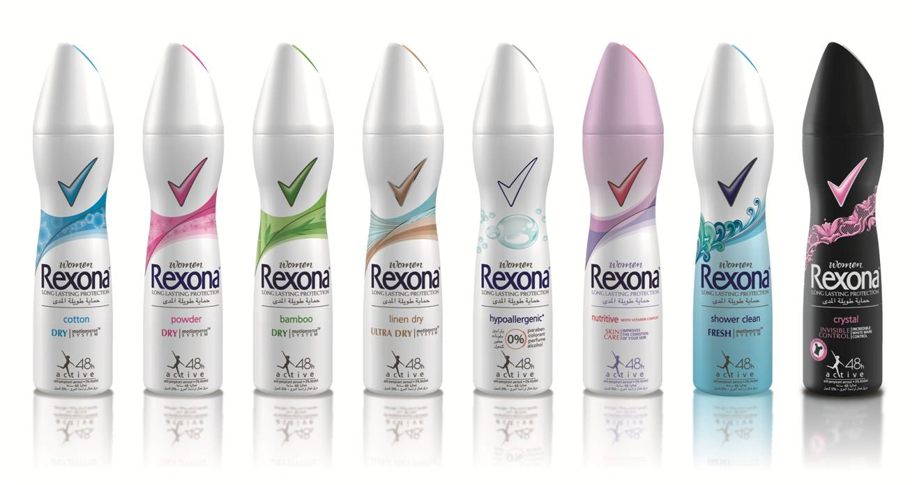 Rexona, Now With New Motion Sense™ Antiperspirant Technology!