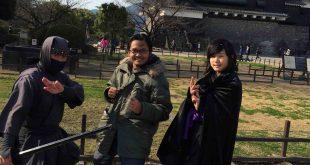 Kumamoto Castle di Musim Dingin