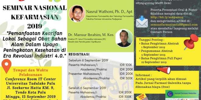 Seminar Kefarmasian Palu 2019