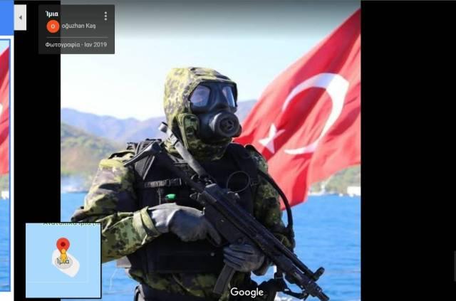 Φωτογραφίες των Τούρκων στα Ίμια