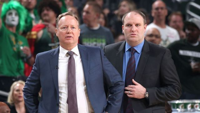 Mike Budenholzer and Taylor Jenkins