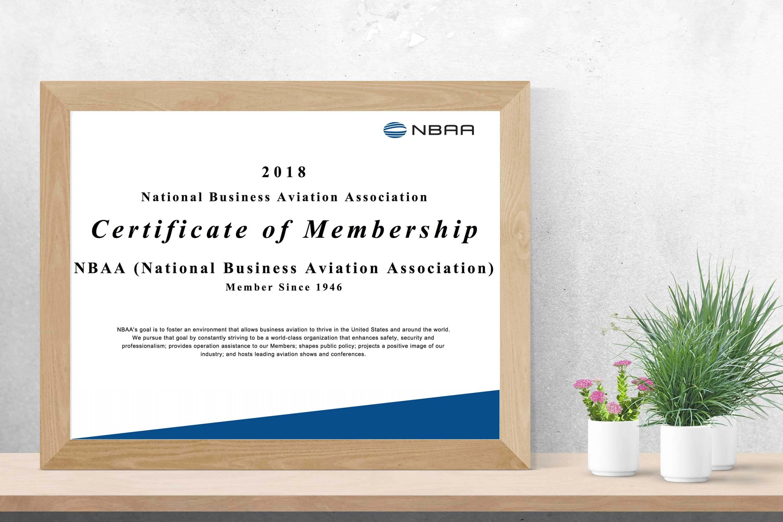 Membership Certificates And Plaques Nbaa National