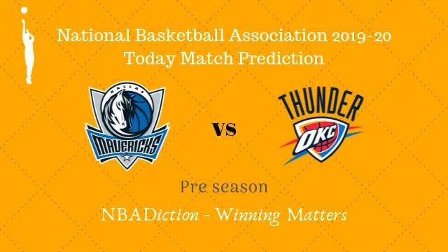 mavericks vs thunder preseason - Mavericks vs Thunder NBA Today Match Prediction - 15th Oct 2019