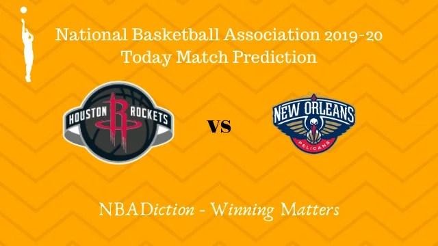 rockets vs pelicans 27102019 - Rockets vs Pelicans NBA Today Match Prediction - 27th Oct 2019
