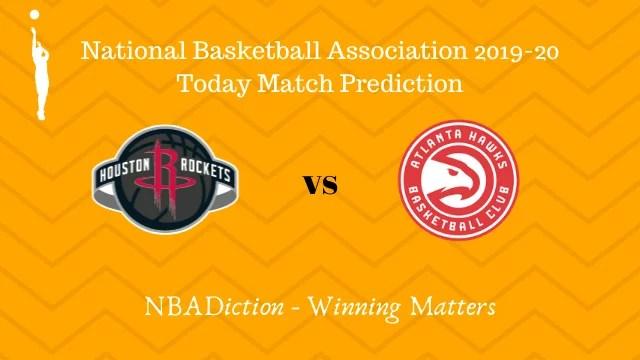rockets vs hawks prediction 01122019 - Rockets vs Hawks NBA Today Match Prediction - 1st Dec 2019
