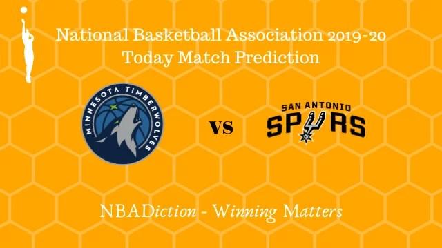 timberwolves vs spurs 14112019 - Timberwolves vs Spurs NBA Today Match Prediction - 14th Nov 2019