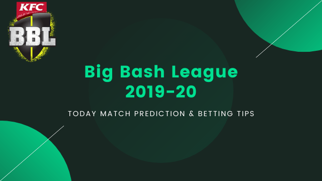 BBL 2019 20 prediction betting tips - ADS vs SYT Today Match Prediction - Knockout, BBL 2019-20