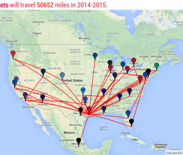 Houston Rockets Will Travel 50330 Miles In 2015 2016