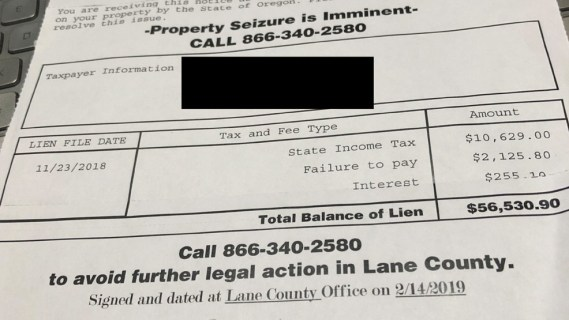 Homeowners beware: Fraud claiming imminent property seizure makes its way  to Lane County | KMTR