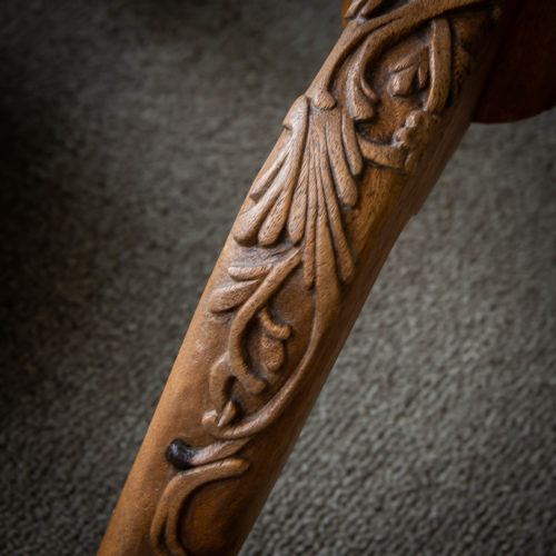 Early carving by Walter on a table leg