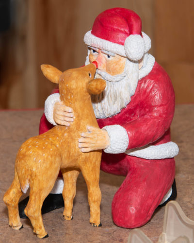 Santa meets Rudolph by Walter