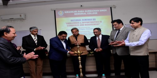 """National Seminar on  """"Challenges and Opportunities in Commerce and Management"""""""