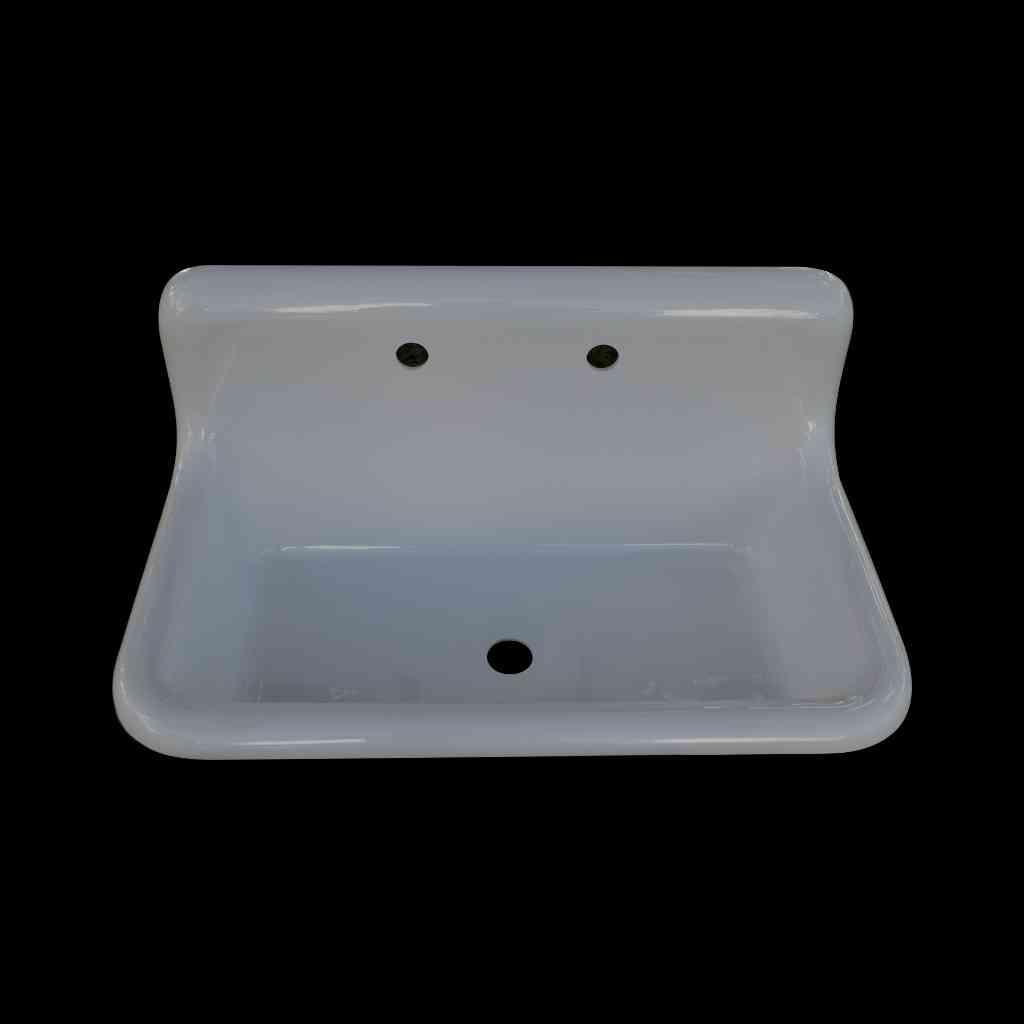 wall mountable 30 x 18 single bowl reproduction farmhouse sink tricorn black