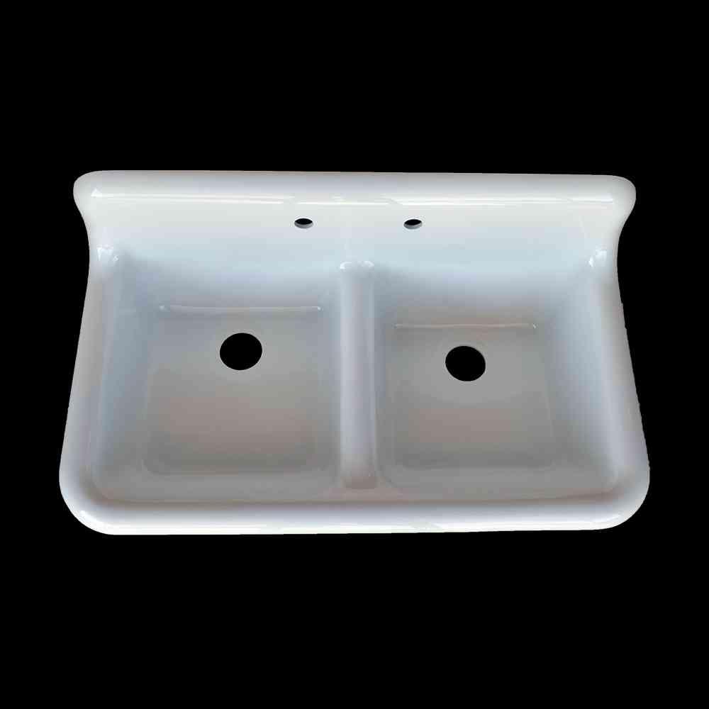 double basin high back farmhouse style sink model dbr4224