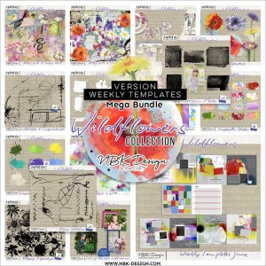 Wildflowers collection by NBK Design video tutorial and tips using impasto style
