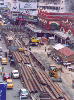 Kolkata Underground Car Park: two level underground structure (shopping mall and a carpark)