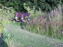 Oakes FF- refurbished bench and planting