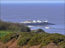 Cromer pier from the cliff top walk