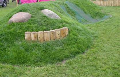 Mounding in toddler area at Emneth