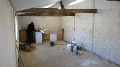The bothy contnues to progress with electrical fixing and decoration underway