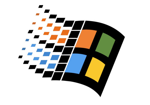le logo windows version 98 a quarante deux carrés