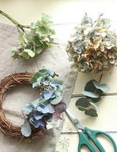 ajisai wreath