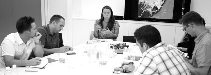 Daina Cunningham describing her design project for indigenous Australians