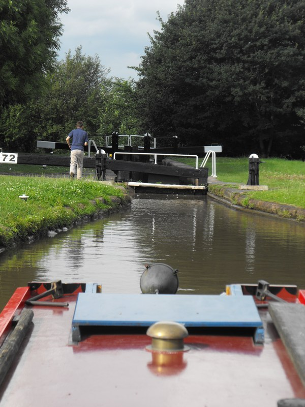 First lock after turning at Middlewich junction