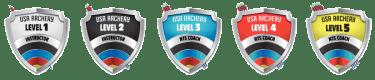 Archery Coaching Levels Shields