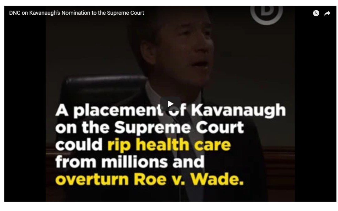 VIDEO: DNC on Kavanaugh's Nomination to the Supreme Court