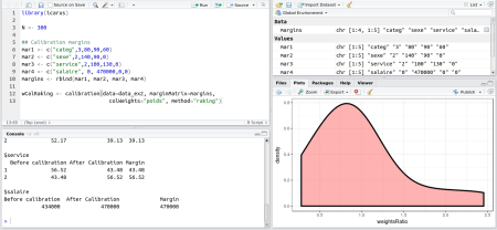 Example of Icarus in RStudio