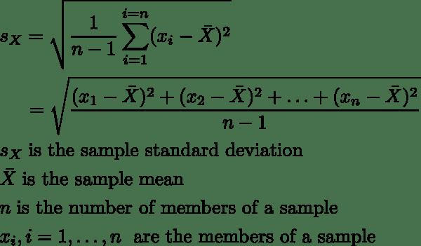 Standard Deviation Calculator Simple Method