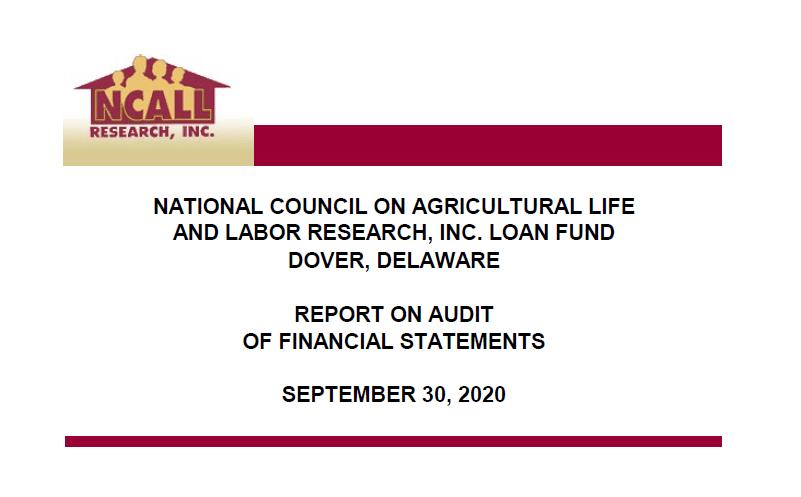 Loan Fund 2016 Audit