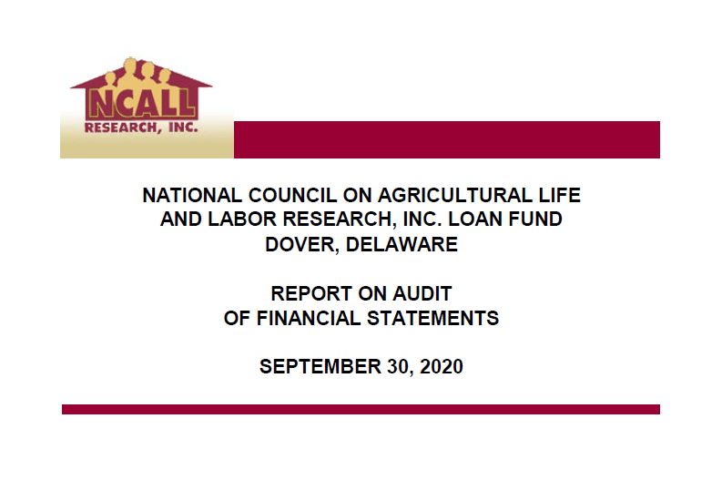 NCALL Research 2017 Audit