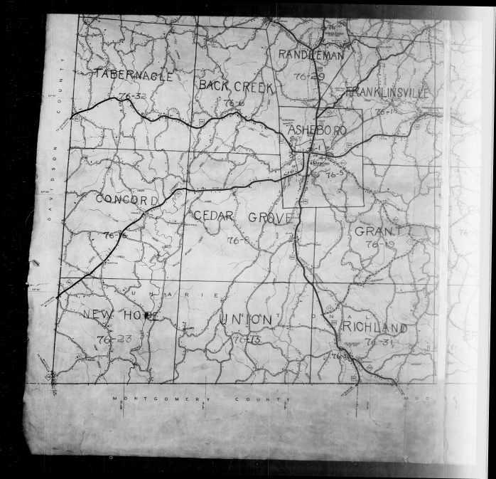 North Carolina Census Enumeration Map