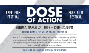 FREE - Dose of Action Film Festival - Concord, CA @ Concord Brenden Theater