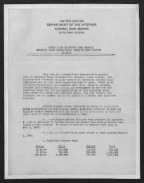 N.C. Division of Parks and Recreation Records, State Parks Division, General File, Correspondence with U.S. Department of Interior, National Park Service