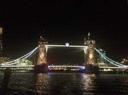 The Tower Bridge during our cruise down the Thames