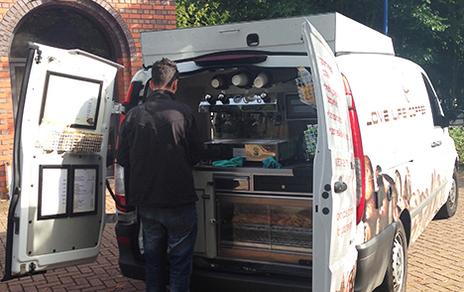mobile coffee or tea business
