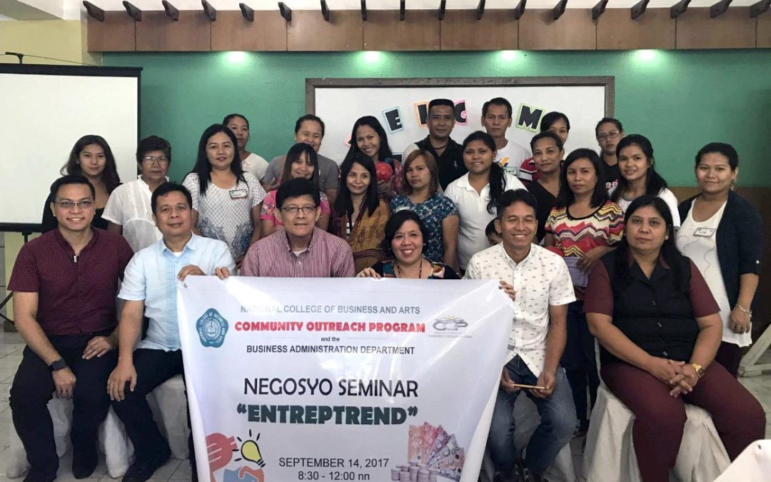 COP in Collaboration with Business Administration Department sponsors  Entreptrend