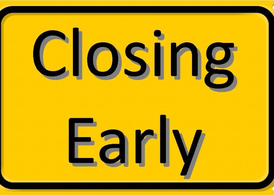 ncbaseballacademy will be closing early today! Open from 200600