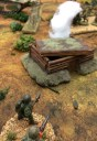 A flamethrower takes out an objective bunker.