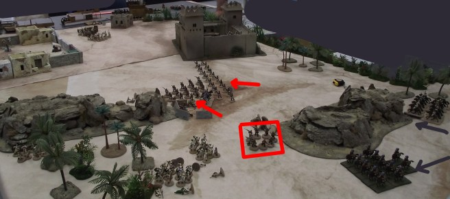 The remains of a British platoon forms square and protects the wounded. The British gunboat safely passes the fort and shoot down many of the Ansar defenders.