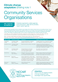 Climate change adaptation: Briefing note 1: Community Services Organisations