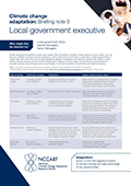 Climate change adaptation: Briefing note 5 Local government executive