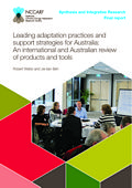 Leading adaptation practices and support strategies for Australia: An international and Australian review of products and tools