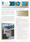 Implementing food security risk management