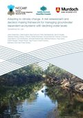 Adapting to climate change: A risk assessment and decision making framework for managing groundwater dependent ecosystems with declining water levels. Guidelines for use